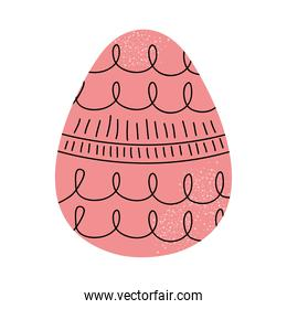 pink easter egg icon, colorful design