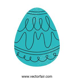 turquoise easter egg icon, colorful design
