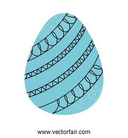 blue easter egg icon, colorful design