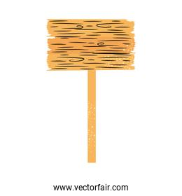 wooden road sign icon, colorful design