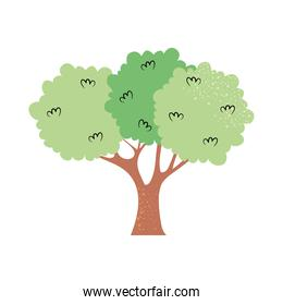 beautiful green tree icon, colorful design