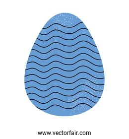 striped easter egg icon, colorful design