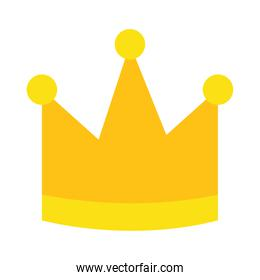 icon of yellow crown, colorful design
