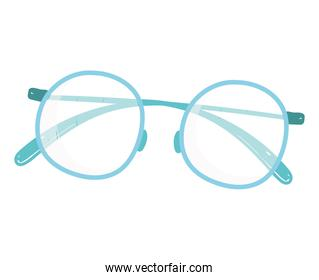 glasses optical accessory hand drawn style on white background