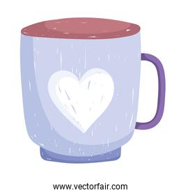 coffee cup beverage hand drawn style on white background