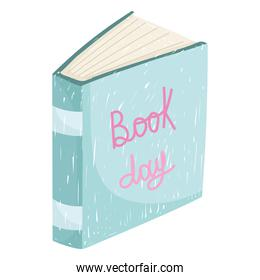 book day education literature academic icon white background