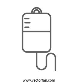 medical iv stand medication equipment line icon white background