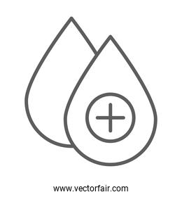 medical blood donation line icon white background