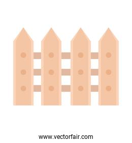 wooden fence barrier icon on white background