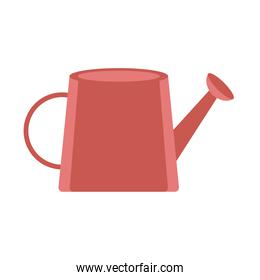 gardening watering can tool icon on white background