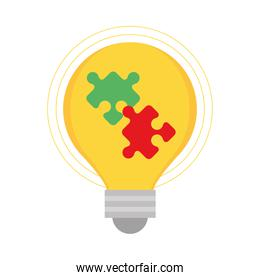 light bulb with puzzles strategy creativity