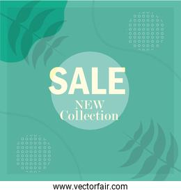 sale new collection seasonal clearance banner template