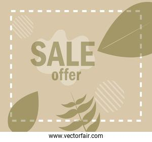 sale offer text new collection in floral background