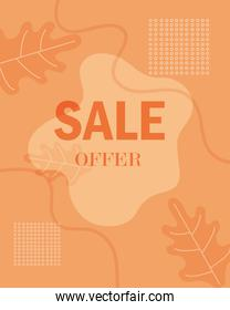 sale new collection advertising background