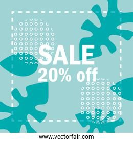 sale new collection offer advertising promotion leaves background