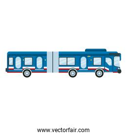 articulated bus city transport icon