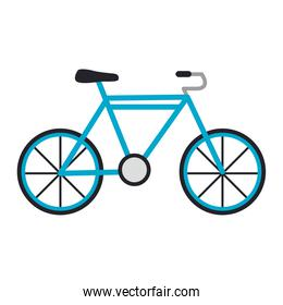 blue bicycle vehicle sport isolated icon