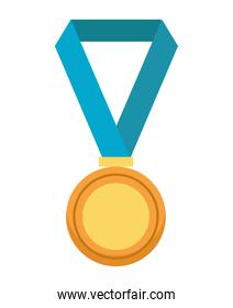 medal award golden isolated icon
