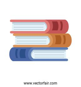 pile text books library isolated icon