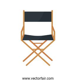 director film chair movie isolated icon