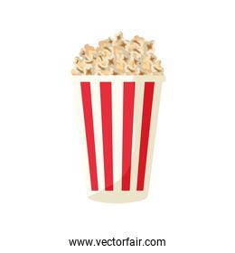 pop corn food delicious isolated icon
