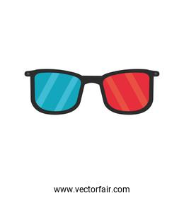 3d glasses accessory isolated icon