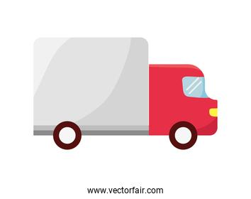 delivery service red truck vehicle icon
