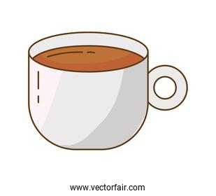 coffee drink in ceramic cup isolated icon