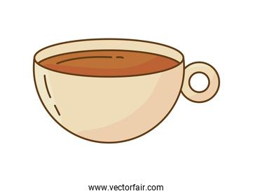 coffee drink in ceramic cup icon