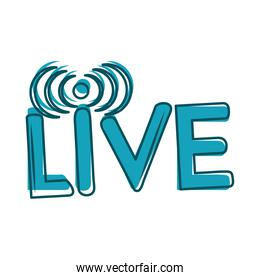 live stream online video digital blue design