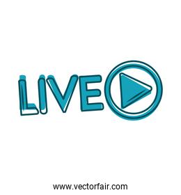 live stream blog content communication blue design
