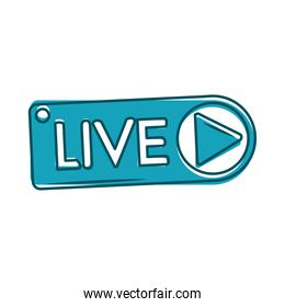 live multimedia stream internet blue design