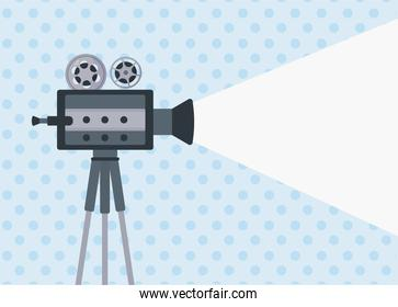 film video camera in dotted background