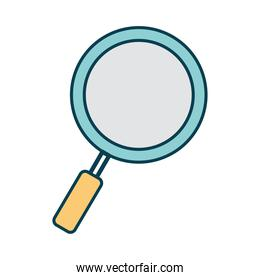 magnify glass on a white background