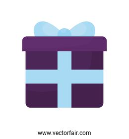 gift box with a blue color
