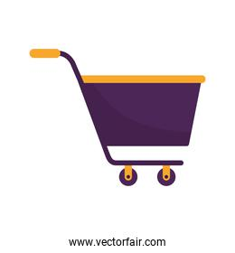 shopping cart on a white background