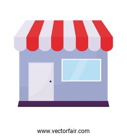 purple store on a white background