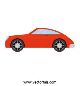 red car over a white background