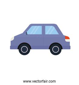 purple car on a white background