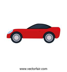 red car in a white background