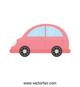 pink car in a white background