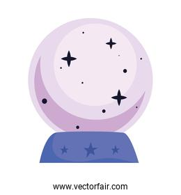 crystal ball esoteric isolated icon