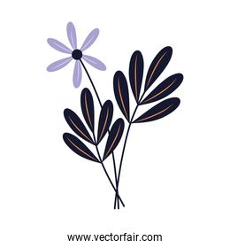 black flower esoteric isolated icon