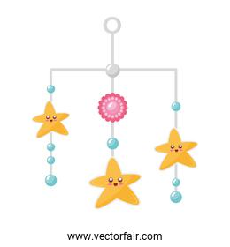 stars hanging in baby toy icon