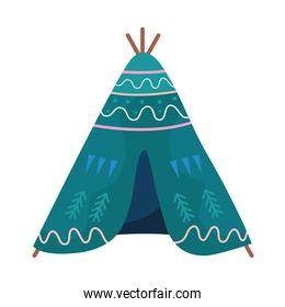 tent camping tool isolated icon