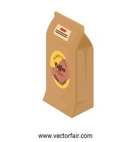 coffee paper bag product icon