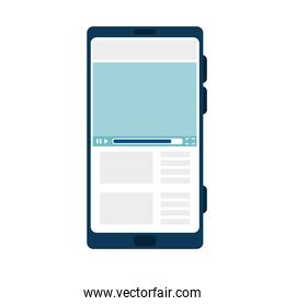 smartphone device electronic icon isolated