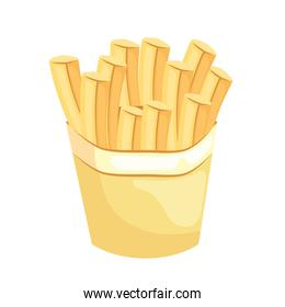 french fries fast food delicious icon