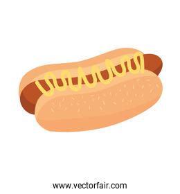 hot dog fast food delicious icon