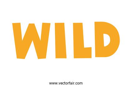 wild lettering with yellow color